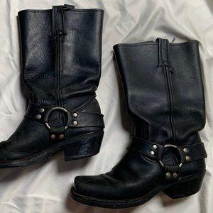 Frye Black Harness Boots, Size 7